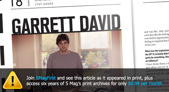 Originally published in 5 Magazine's June 2013 print issue - subscribe here for $0.99/month.