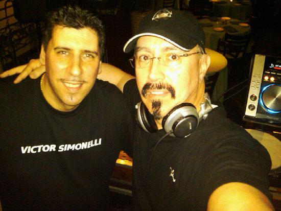 Victor Simonelli with disco remix legend John Morales (M+M Mixes).