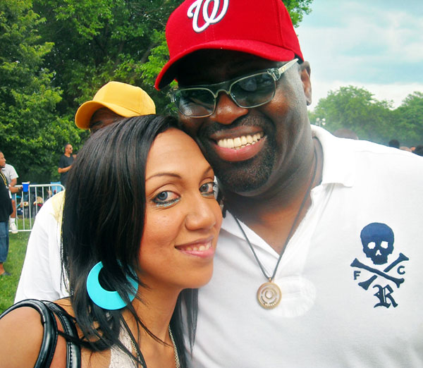 Czarina Mirani & Frankie Knuckles at the Chosen Few Picnic (From 5 Magazine's archives)