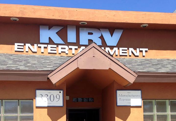 Up In Lights: Kirv's Studio (photo courtesy of Parris Mitchell).