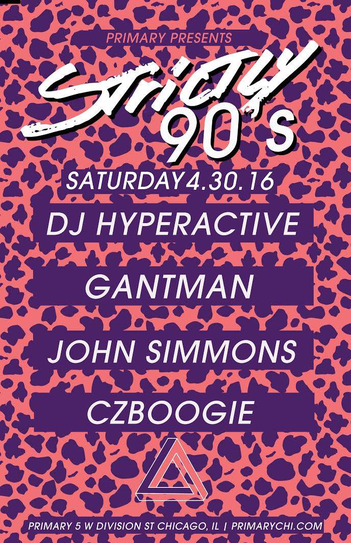 Strictly 90's April 2016
