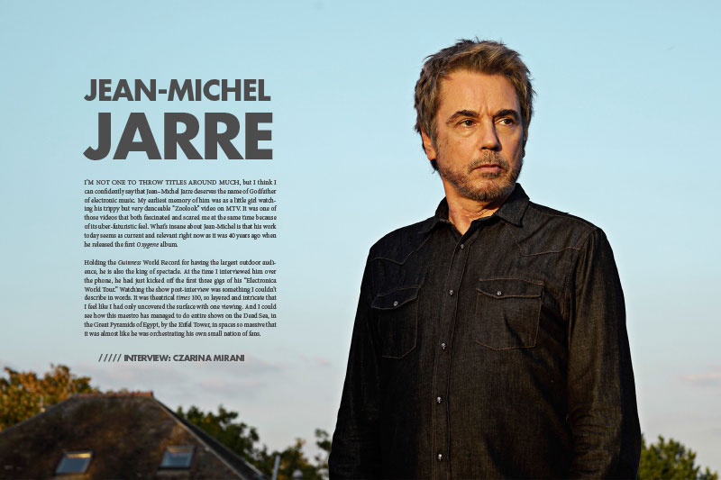 Jean Michel Jarre in 5 Magazine