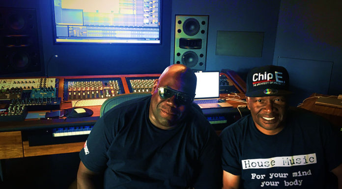 Chip E with Carl Cox