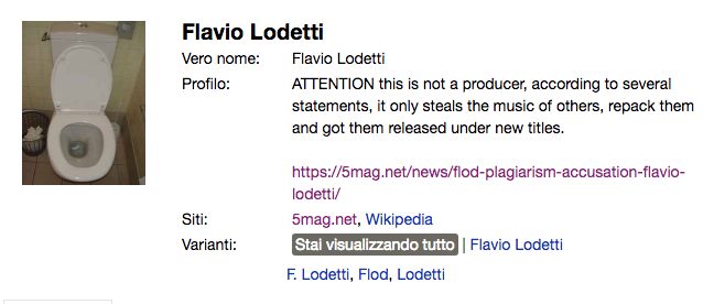 Stealthy edit of FLOD's discogs page.
