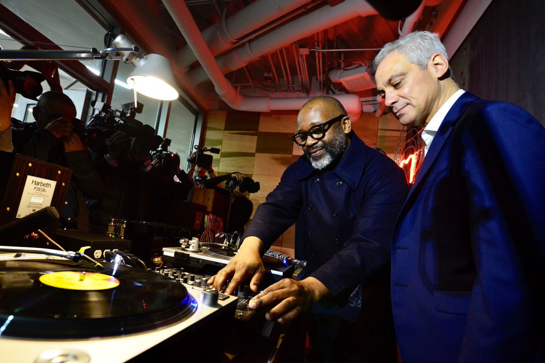Theaster Gates and Rahm Emanuel