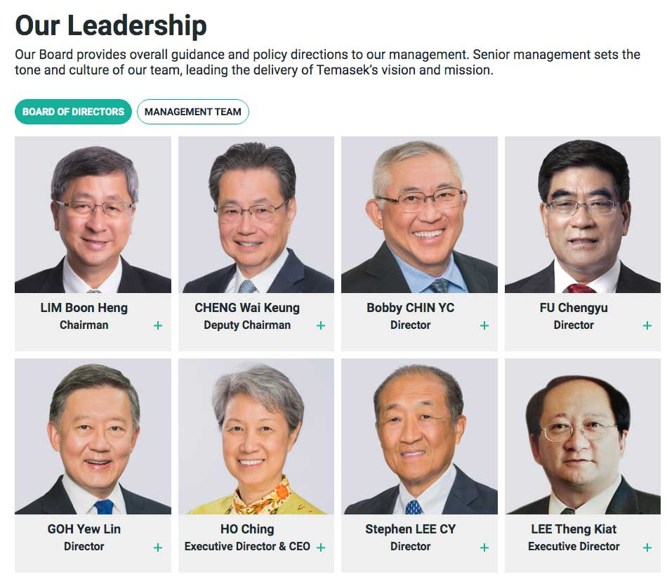 Temasek Board of Directors