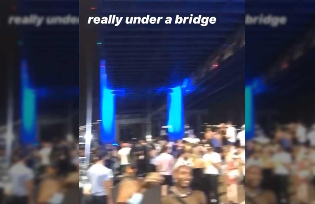 So they really threw a rave under a bridge in Brooklyn Saturday night