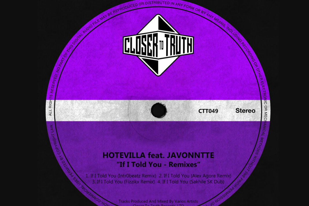 Hotevilla and Javonntte If I Told You Remixes album artwork