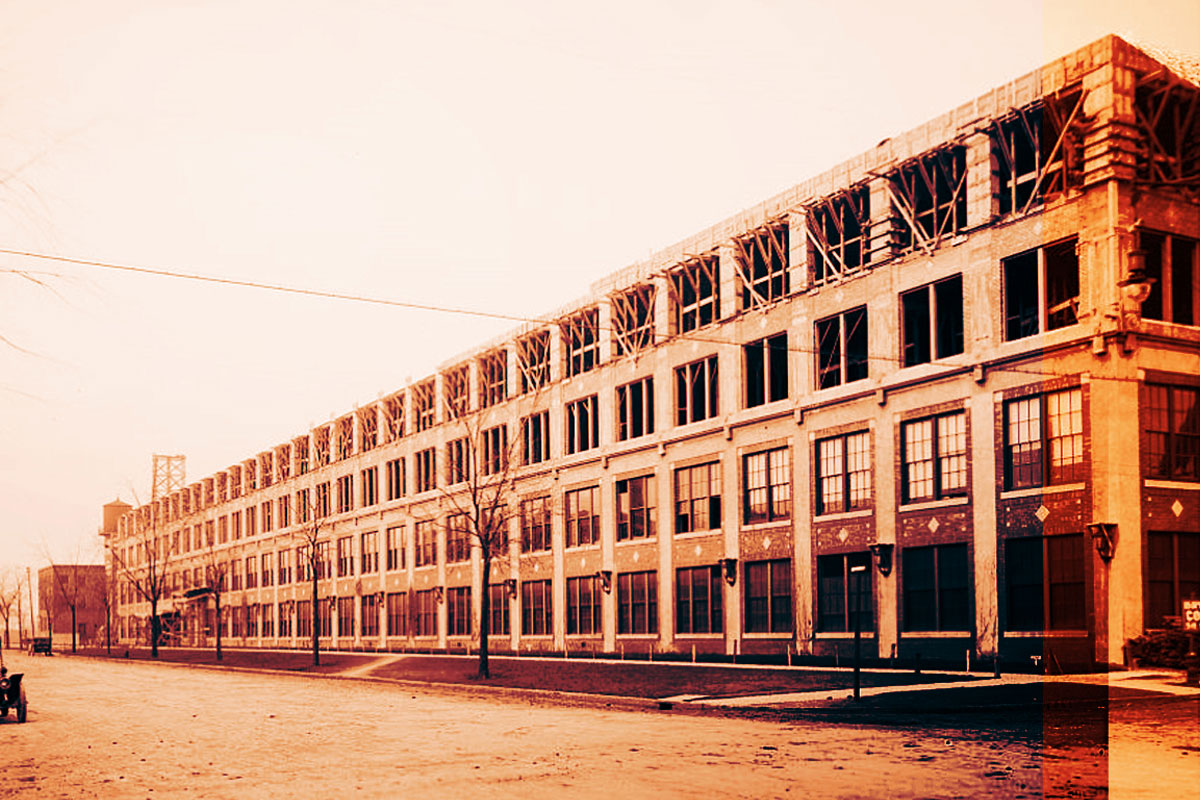 Packard Plant Project Detroit circa 1911 from the Library of Congress