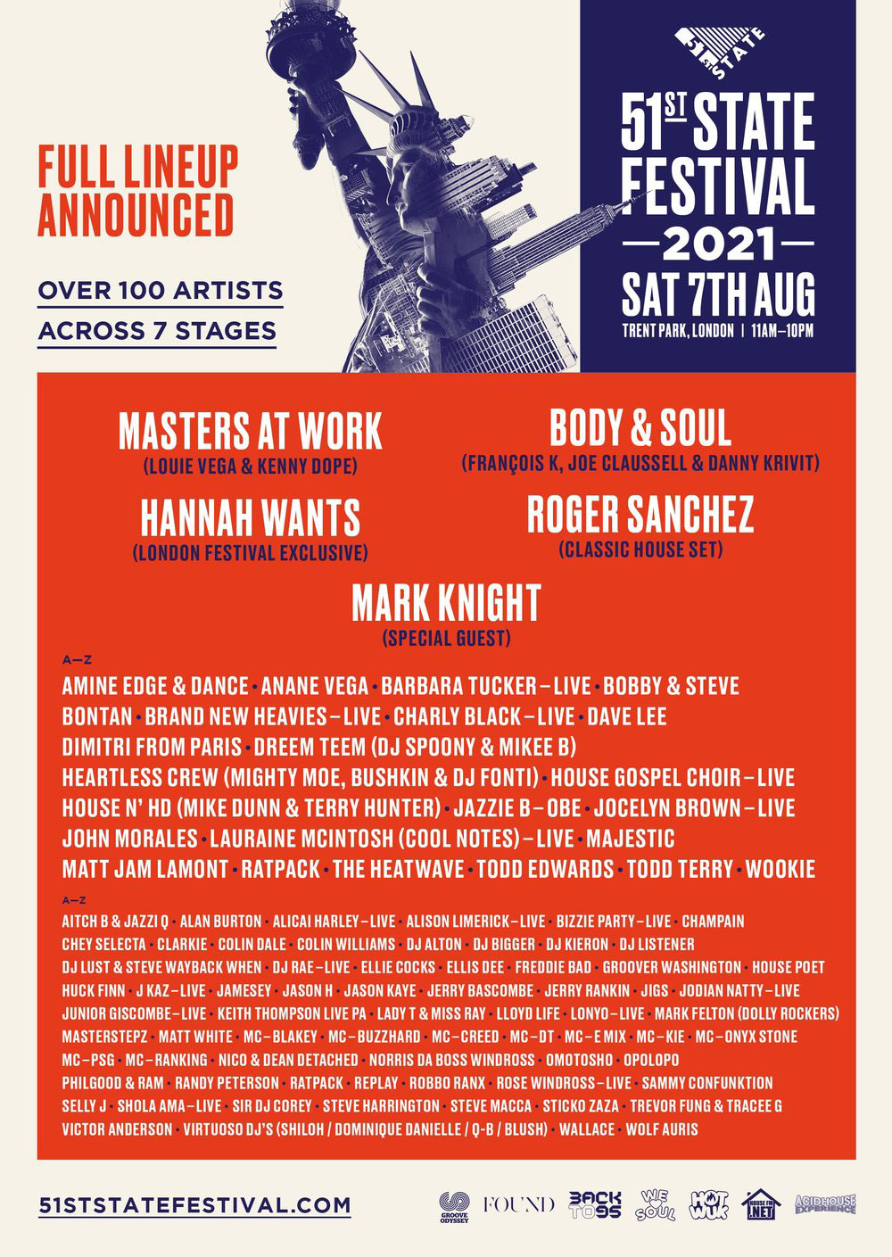 51st State Festival 2021 poster