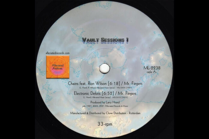 Larry Heard Vault Sessions Electronic Debris album artwork