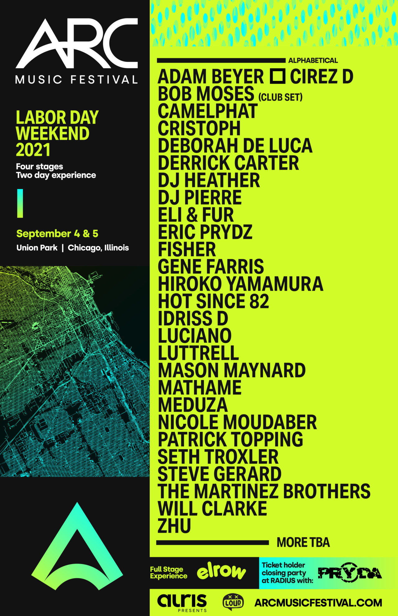 ARC Music Festival line-up