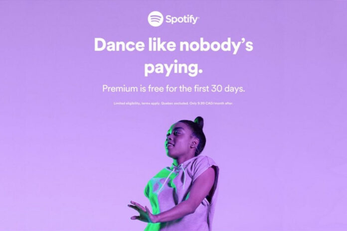 Spotify Dance Like Nobody's Paying ad
