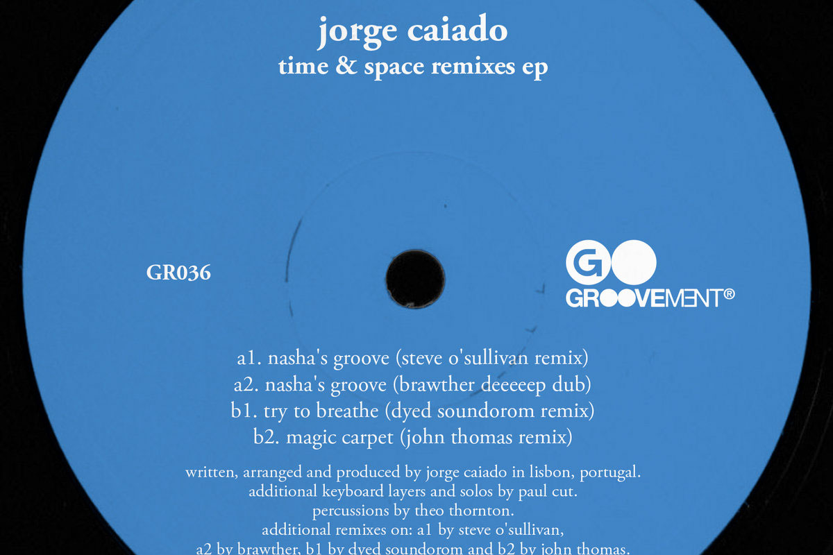 "Groovement drops brilliant remix pack for Jorge Caiado's ""Time & Space"" album"