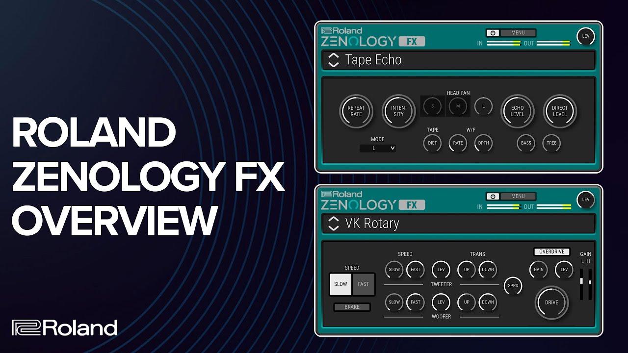 Roland demos Zenology FX plugin for Mac & Windows (Video)