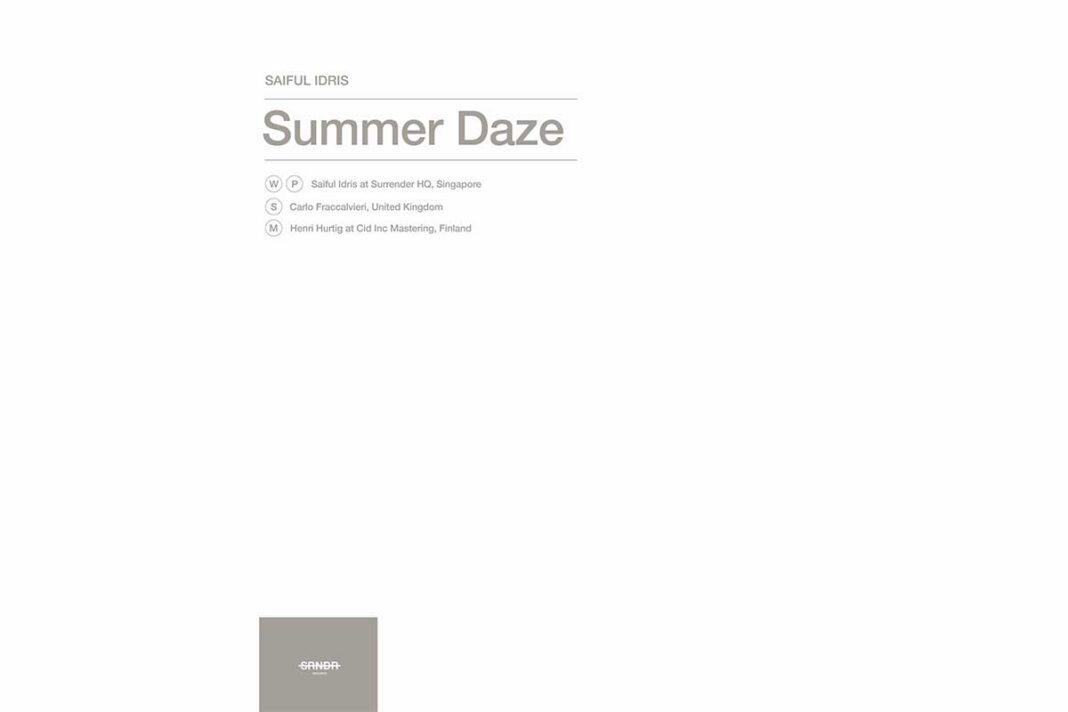 Saiful Idris Summer Daze album art