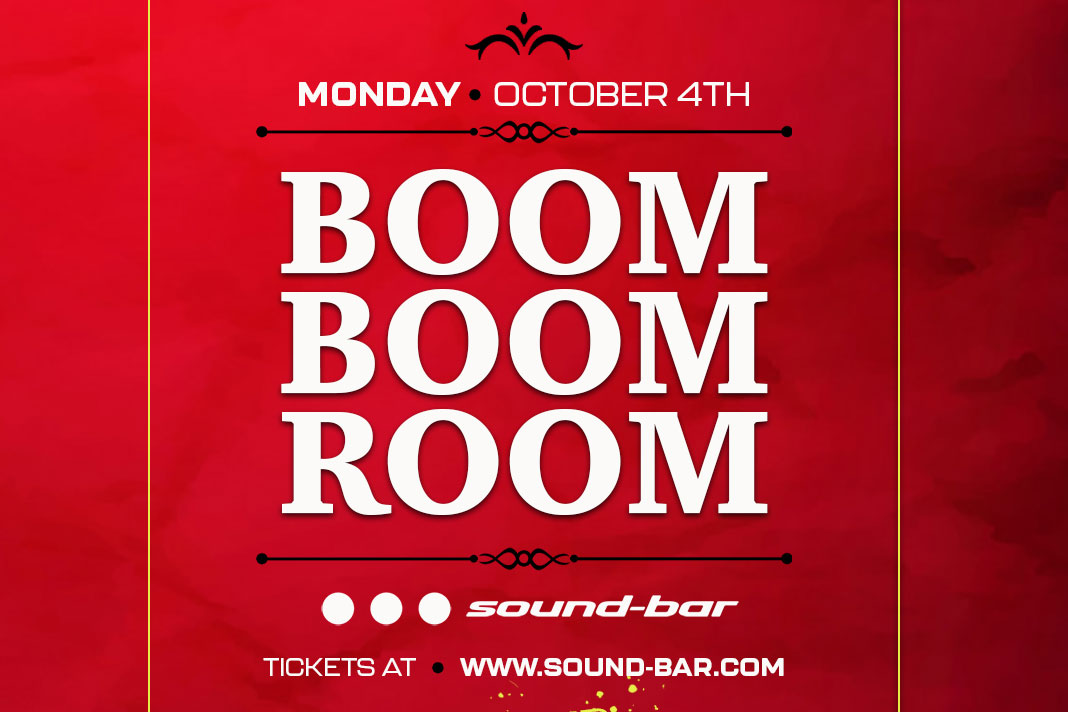 Boom Boom Room 2021 flyer