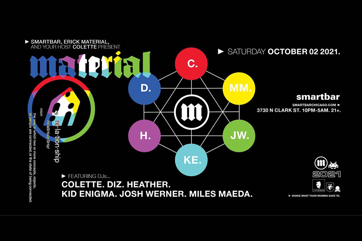 Material Reunion October 2 2021 at Smartbar art